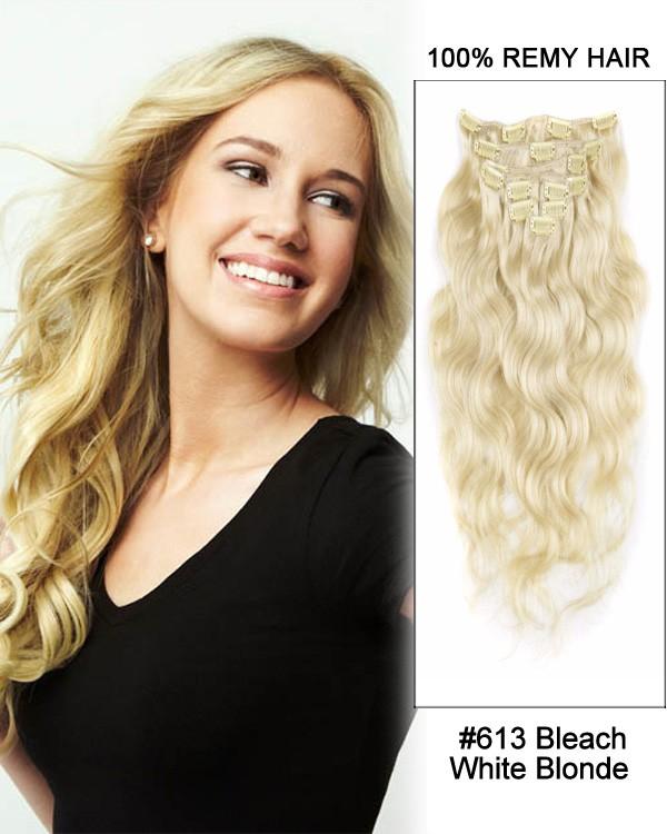 Feshfen 16 613 Bleach White Blonde 7pcs Body Wave Remy