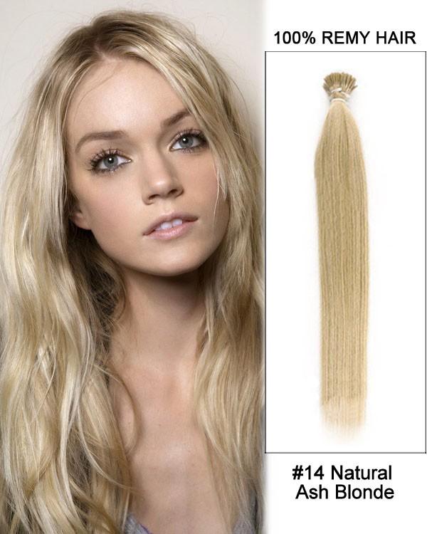 Feshfen 14 14 Natural Ash Blonde Straight Stick Tip I