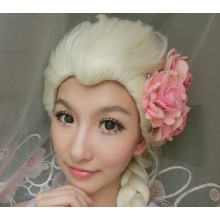 Hair Cap + Blonde Cosplay Wig Party Braid Hair Wigs