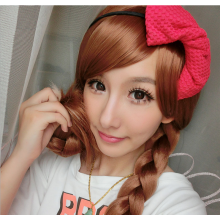 Hair Cap +Movie Cosplay Wig Party Wigs Brown Braid Wig Halloween Wig