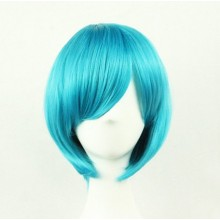 Short Straight Sexy Stylish Cosplay Party Hair Wigs (Blue)