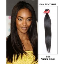 "14"" #1B Natural Black Straight Weave 100% Remy Hair Human Hair Extensions"