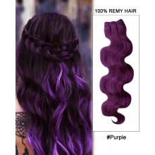 "20"" #Purple Body Wave Weave Remy Hair Weft Hair Extensions"