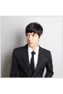 FESHFEN韩版男士假发100 %真发丝假发套定制秃顶时尚假发帅气头套