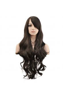 Wigs Long Curly Wavy Wig Cosplay Costume Parties Wig(Black)