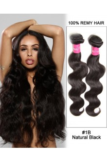 "20"" Body Wave Brazilian Remy Hair Weave Weft Human Hair Extensions"