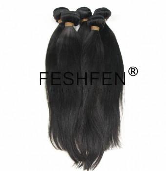 FESHFEN100%原生发真人发丝自然色发帘假发优质少女发顺发可烫染